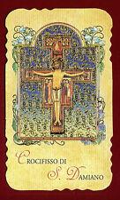 santino HOLY CARD  - CROCIFISSO di SAN DAMIANO