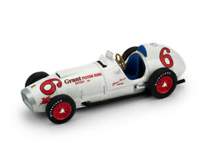 Ferrari F1 375 #6 Indianapolis Gp 1952 J.Parsons White BRUMM 1:43 R168 Miniature