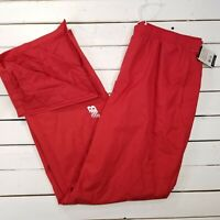 New Balance NB Double Session Track Pants Mens XXL Red Warm Up Ankle Zip NBRD4