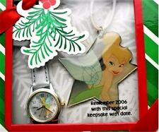 Disney Tinker Bell Watch Women Ladies Watch with Christmas Ornament in Gift Box