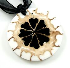 STUNNING FLOWER CONE SHELL necklace ; GA115