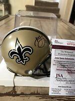 Marshon Lattimore Autographed/Signed Mini Helmet JSA COA New Orleans Saints
