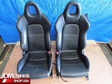 JDM 00-09 Honda S2000 AP1 OEM Front Black LEATHER Seats, F20C F22C AP2