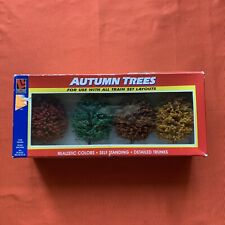 Autumn Trees for Model Railroads HO or N Scale