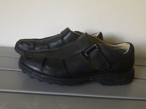 Timberland Men's Altamont Fisherman Black Leather Closed Toe Rubber Sole Size 11