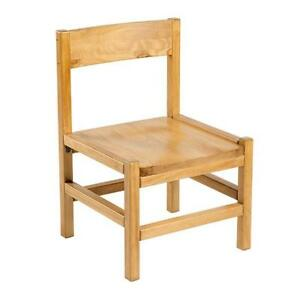 Complete set of 8 Heavy Duty Honey Pine Wood chairs