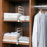 Closet Shelf Divider Wardrobe Partition Shelves Divider Clothes Wire Shelving