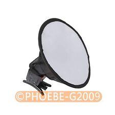 "20cm/8"" Round Flash Softbox Diffuser for Canon Nikon Pentax Sony"