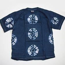 T-Shirt-BATIK-Shirt-indien hippie goa psy Gr.L Unisex BLAU 15