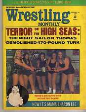 WRESTLING MONTHLY JANUARY 1974 JOHNNY DE FAZIO ART THOMAS JACKIE WEST WWE WWF