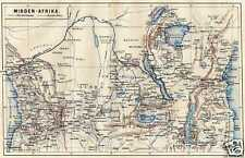 Antique map Central Africa Centraal Afrika karte stampa natica mappa 1875