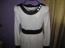 Mikarose White and Black dress size L