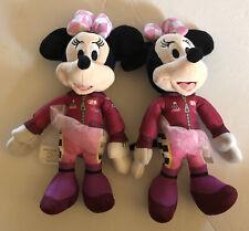 New listing Lot (2) Disney Minnie Mouse Auto Race Car 89 Suit w/Tutu/Bow Stuffed Plush Toy
