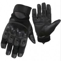 Leather Motorbike Motorcycle Summer Gloves Knuckle Protection Large Version