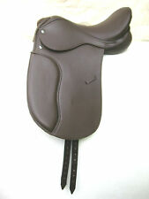 """Beautiful Brown Dressage Synthetic Saddle sizes 17"""""""