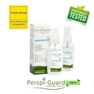 MULTIPACK 2 x Perspi-Guard Max 5 Strong Antiperspirant 50ml Stop Sweat