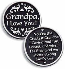 Grandpa I Love You Pewter Pocket Token NEW (PT121)