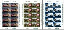 Militaria Latvia Lettland 2019 Latvian National Armed Forces - 100 years SHEETS