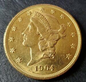 SUPERB 1904-P  Liberty Head  $20 Twenty Dollar Gold US Coin High Grade