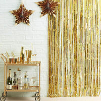 3ft X 9ft Gold Foil Fringe Curtain Backdrop Party Wedding Party Decoration so