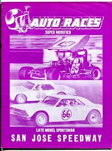 San Jose Speedway Auto Race Program 1977