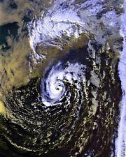 "New 8x10 Photo: ""Perfect Storm"" Hurricane, Halloween Nor'Easter Satellite Image"