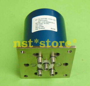 For Used TELEDYNE CCR-39S940-RS-1 SP4T 18GHz 200W SMA RF coaxial switch