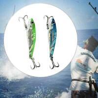 Metal VIB Fishing Lure Fishing Tackle Crankbait Vibration Sinking Spoon Spi Z1T9