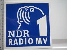 Aufkleber Sticker NRD1 - Rundfunk - Radio - UKW (6246)