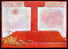 Polaco Thermopylae 1982 Tadeusz micinski-Franciszek Starowieyski polaco Cartel
