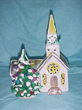 1976-79 Dept 56 Snow Village STEEPLED CHURCH  #50054 1 of ORIGINAL 6 buildings