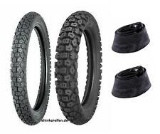 1 Juego Neumáticos Enduro 4.10-18 65S 2.75-21 45P Shinko Sr 244 y 2 Mangueras