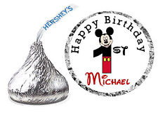 108 MICKEY MOUSE 1st BIRTHDAY PARTY FAVORS HERSHEY KISS LABELS