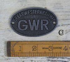 Solid Cast Iron GWR Sign Railway Plaque Decorative Vintage Antique Design #BD34