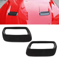 2Pcs Carbon fiber Style Engine Air Outlet Cover Trim Fit For Ford Mustang 18-19