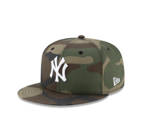 New York Yankees Woodland Camo Basic New Era 59FIFTY Fitted Hat