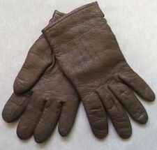WOMENS VINTAGE SOFT LEATHER DRIVING GLOVES 1970s BROWN SIZE 6.75 MEDIUM LINED