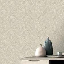Pewter and Beige Leopard Print Wallpaper Portfolio by Rasch 215601