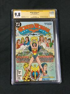 Wonder Woman 1 CGC SS 9.8 Signed Perez 1987 White Pages Key 🔑  🔥🔥🔥 Movie Dc
