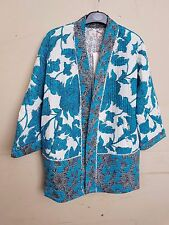 BNWT LADIES M & S PER UNA BLUE PATTERNED LIGHT COAT / JACKET SIZE 12 £59 TAG