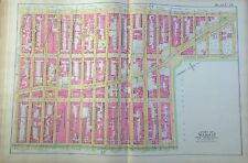 1891 E. ROBINSON HELLS KITCHEN UPPER WEST SIDE MANHATTAN ORIG MAP ATLAS W47-W64