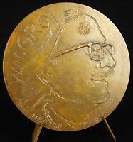 Medal William Napoleon Grove Cartoonist Duck Enchaîné.sc Belo 1974 Medal
