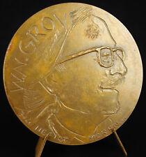 Médaille William Napoléon Grove Caricaturiste Canard enchaîné.sc Belo 1974 medal