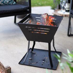 Modern Fire Pit La Hacienda, Log Burner Wood Chimenea Garden Patio Heater Basket