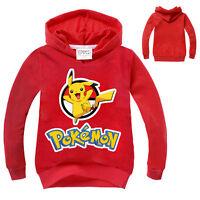 Pokemon Kids Clothes Boys Girls Cos Hoodie Pikachu Sweatshirts Cosplay Jacket