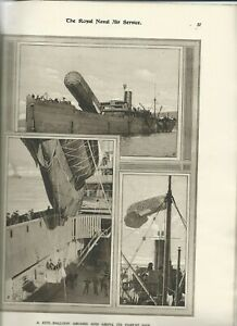 THE WORK and TRAINING of the ROYAL NAVAL AIR SERVICE 1917 - BALLOON CONTENT