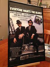 "BIG 11X17 FRAMED ""THE BLUE BROTHERS"" MOVIE LP ALBUM CD PROMO AD w/ TOUR DATES!"