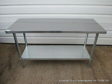 "New Stainless Steel Work Prep Table 60"" x 24"" , NSF"