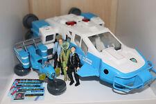 Space Precinct Toys bundle, 4x action figures, cards, bike, large vehicle