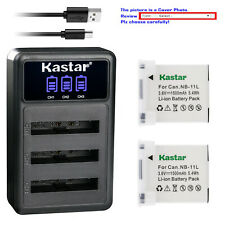 Kastar Battery Triple USB Charger for Canon NB-11L Canon ELPH 190 IS ELPH 320 HS